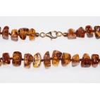 Bracelet ambre taille pavés cognac