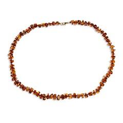 Collier ambre taille pavés 50 cm