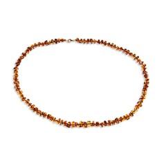 Collier ambre taille pavés 60 cm