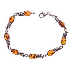 Bracelet ambre et argent Brigitte