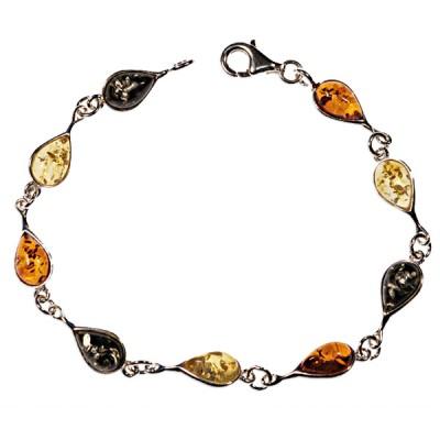 Bracelet ambre et argent Calypso