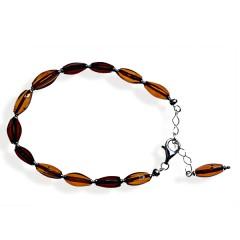 Bracelet ambre et argent Slavina