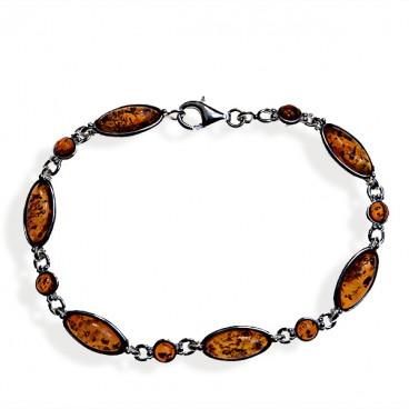 Bracelet ambre et argent Michèle