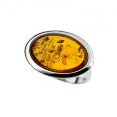 Bague ambre et argent Boréale